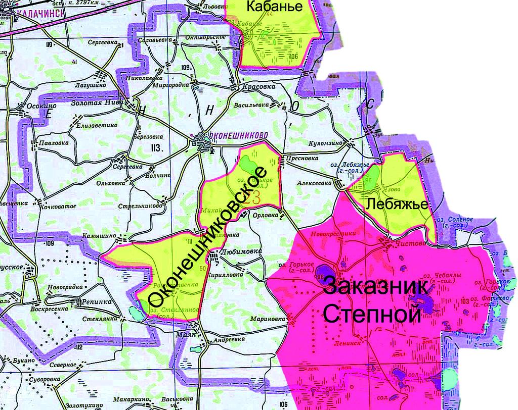 Карта Оконешниковского Района Село Любимовка